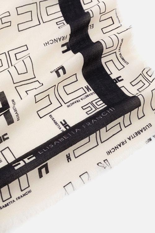 Immagine di Sciarpa stampa classic logo Elisabetta Franchi