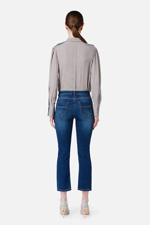 Immagine di Jeans mini flare con staffa oro Elisabetta Franchi