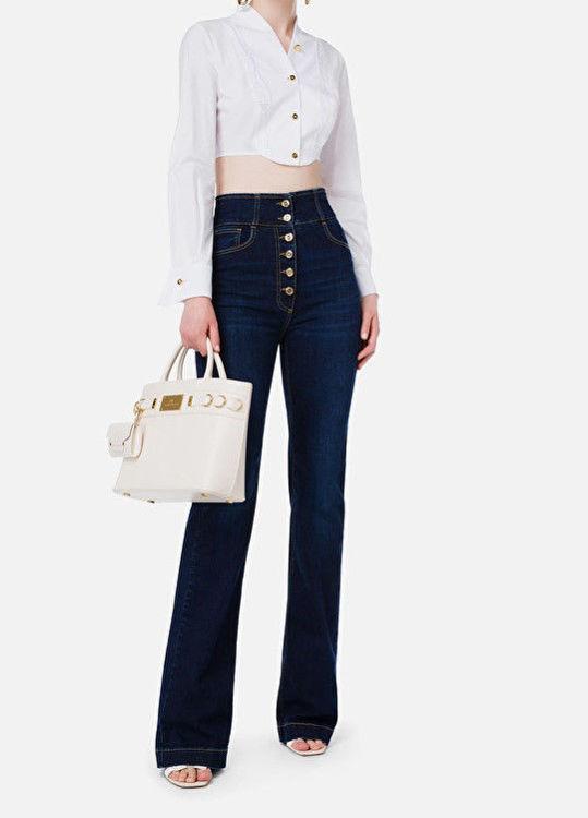 Immagine di Jeans con abbottonatura alta light gold Elisabetta Franchi
