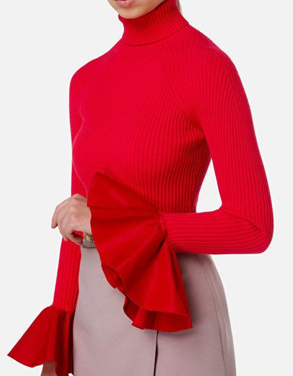Immagine di Maglia a costine con maniche a rouches Elisabetta Franchi