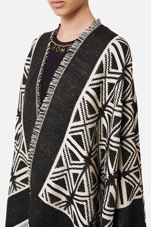 Immagine di Mantella jaquard disegno kilim Elisabetta Franchi