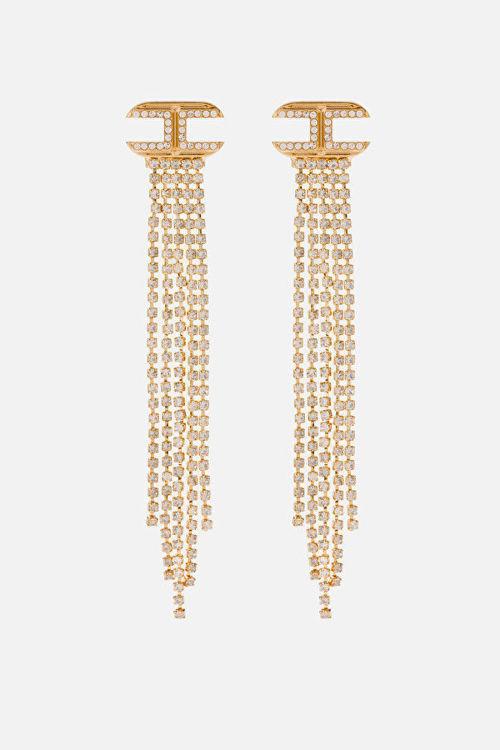 Immagine di Orecchini pendenti in strass Elisabetta Franchi