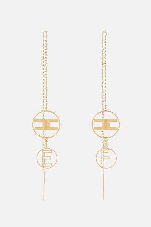 Immagine di Orecchini catena con logo Elisabetta Franchi