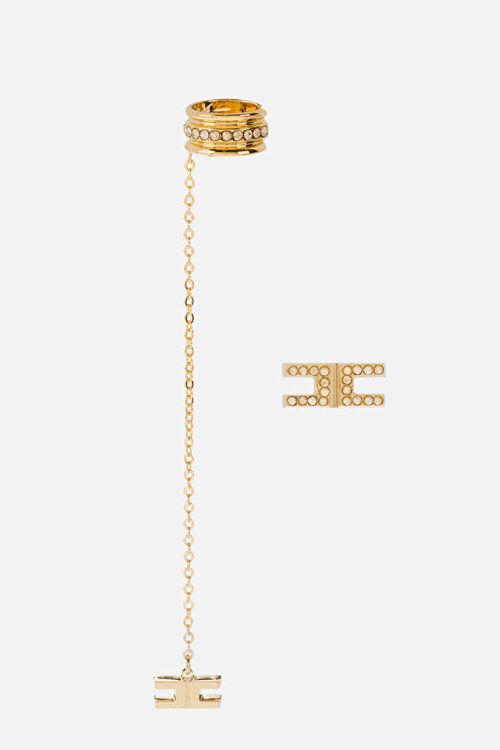 Immagine di Orecchini logo in strass Elisabetta Franchi