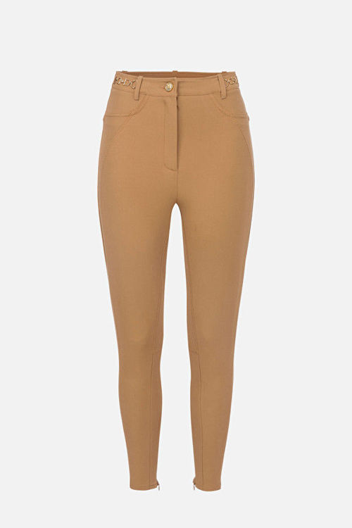 Immagine di Pantalone skinny cavallerizza con morsetti oro Elisabetta Franchi