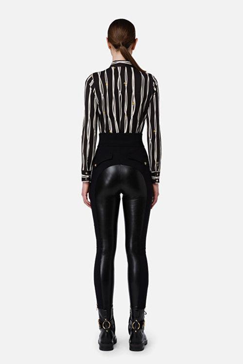 Immagine di Pantalone cavallerizza in finta pelle Elisabetta Franchi