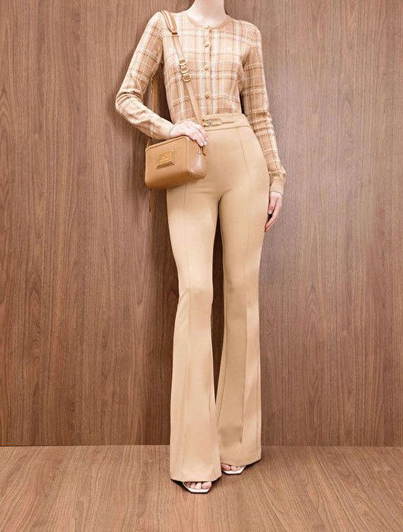 Immagine di Pantalone a zampa con logo Elisabetta Franchi